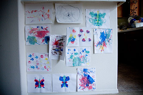 Finger paintings
