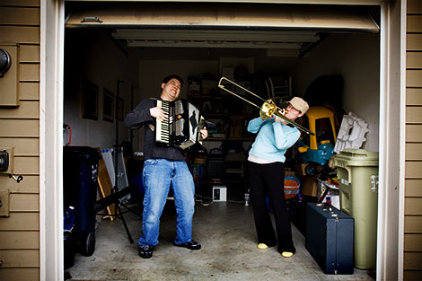 Our uncommon overture with an accordion and trombone. Our album will be available someday.