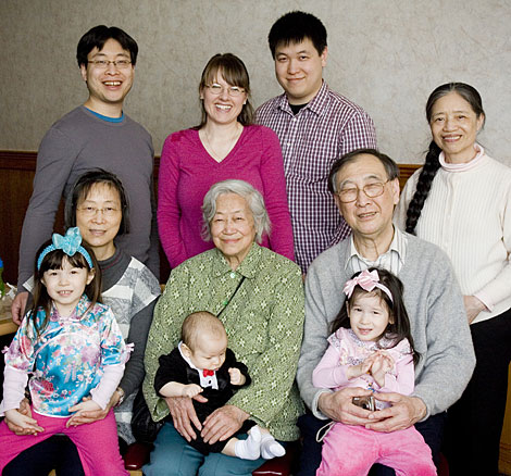 Lim family portrait at Super King