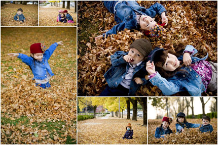 Fall portrait collage