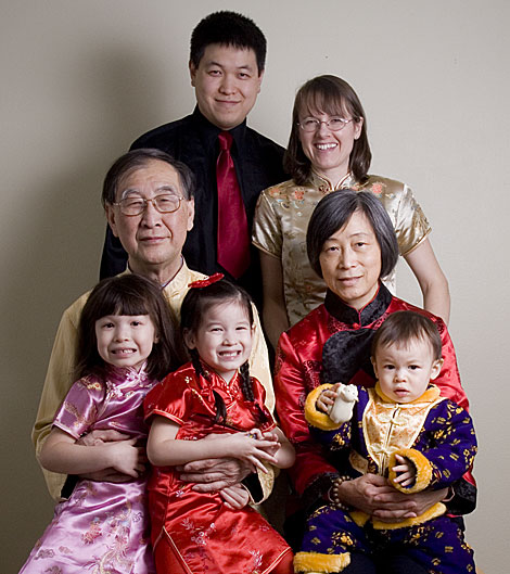 Chinese New Year Family Portrait