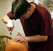 Open pumpkin brain surgery