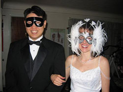 David and Jennilyn's Masquerade Costumes